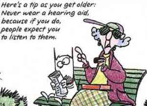 hearing aid cartoon