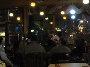 guitar at coffee shop